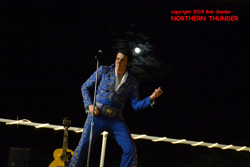 Elvis on stage at North Star Dragway