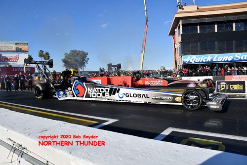 TF - Antron Brown (near lane) -  Shawn Reed (far lane)