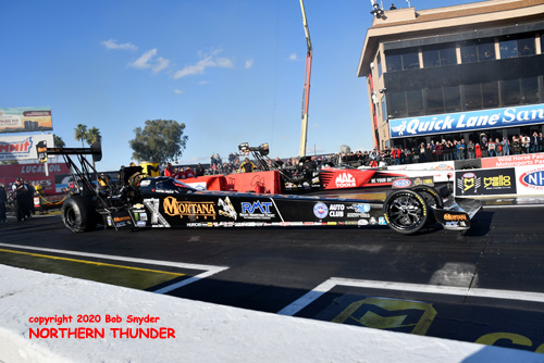 TF - Austin Prock (near lane) -  Doug Kalitta (far lane)
