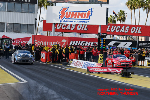 PS - Bo Butner (near lane) vs  Erica Enders (far lane)