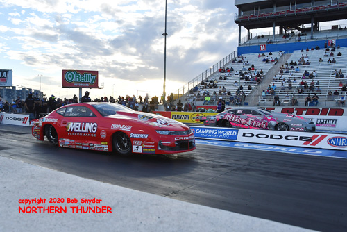 (near lane) Erica Enders vs  (far lane) Kyle Koretsky