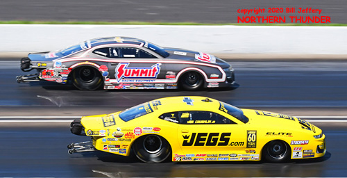 (near lane) Jeg Coughlin Jr. vs (far lane) Jason Line