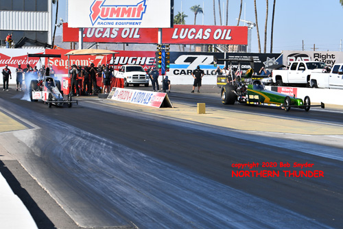 (left lane) Ron Anderson vs (right Lane) Casey Grisel